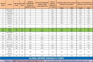 Global Gender Inequality Index