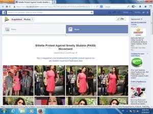 Gillette Stubble FB Page