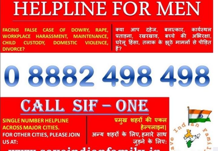 Helpline for men