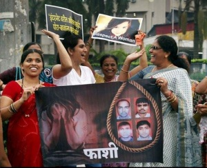 Rape protest by Indian feminists