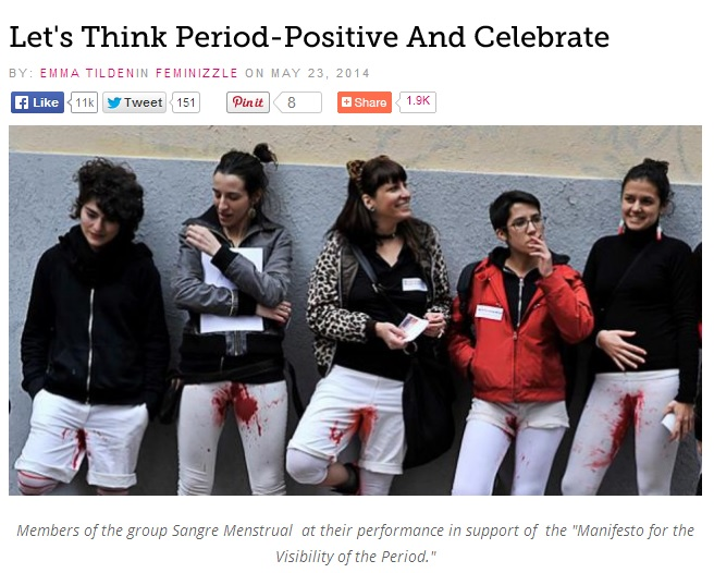 Feminists campaign - periods