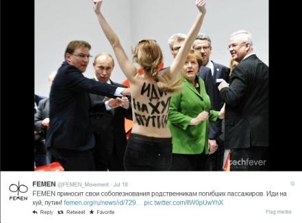 Femen - Demo in front of Putin