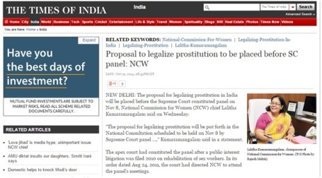 Prostitution being legal