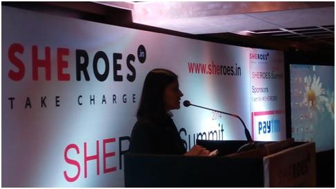 Sairee Cahal at Sheroes Bangalore summit