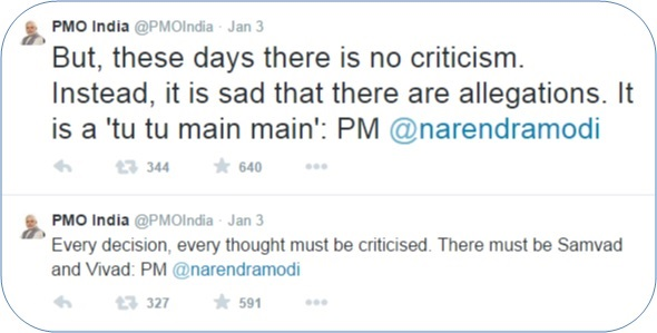 PMO Tweet about criticism