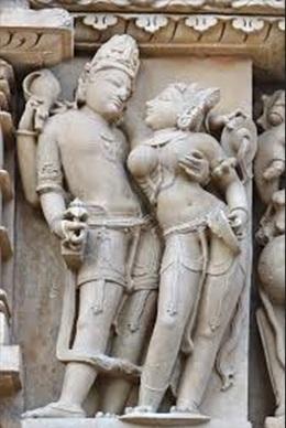 Shiv Parvati - Khajuraho Sculpture