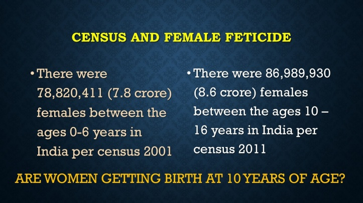 Census and Female Feticide