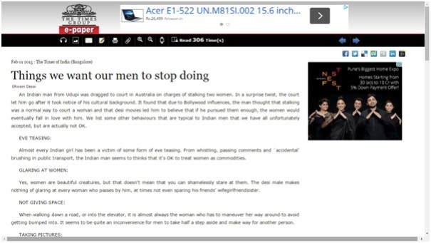 Things we want men to stop doing - TOI