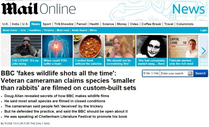 BBC fake wildlife documentary