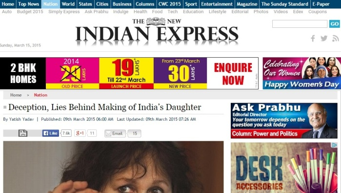 Deception, lies behind India's Daughter