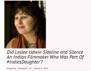 Beware! India's Daughter Was Scripted