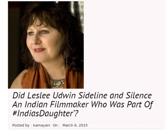 Leslee silenced Indian film maker