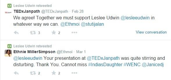 Leslee Udwin's Tweets