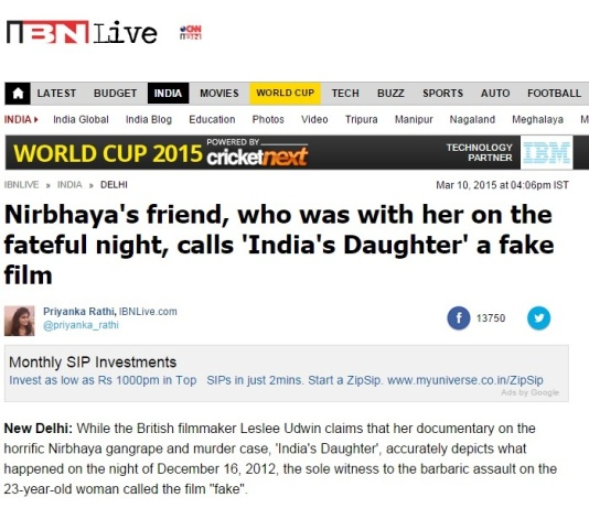 Nirbhaya's friend speaks out