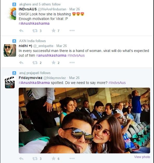 Tweeple before India - Australia match