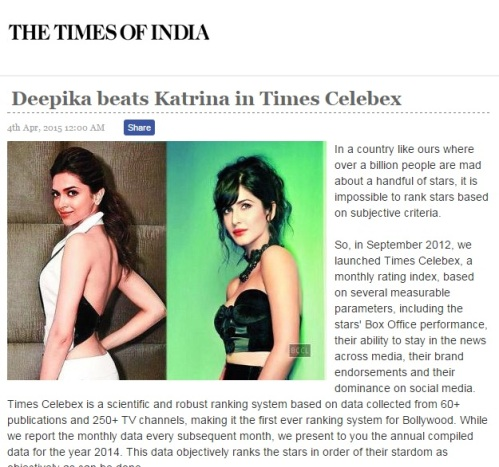 Deepika Vs Katrina