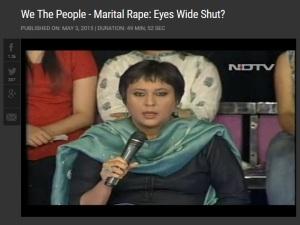Marital rape on NDTV
