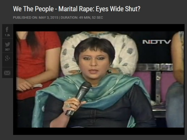 Marital rape on NDTV