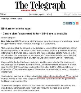 Marital Rape in India - The Telegraph