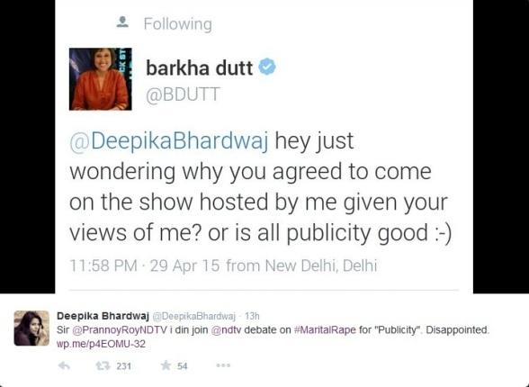 Barkha Tweet