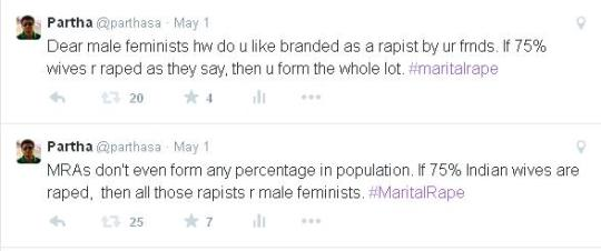 Tweet about marital rape