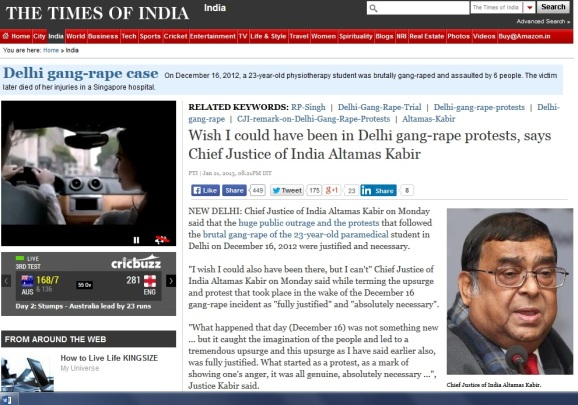 CJI wanted to protest after Delhi rape