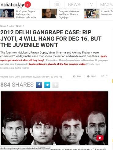 Juvenile not hanged