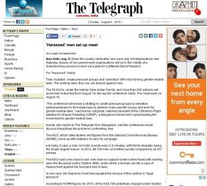 Telegraph - Harassed Men
