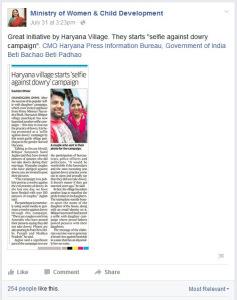 Maneka Gadhi on Selfie Against Dowry