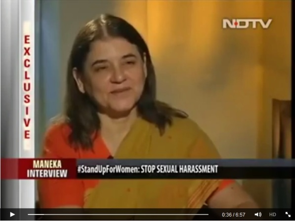 Maneka Gandhi interview