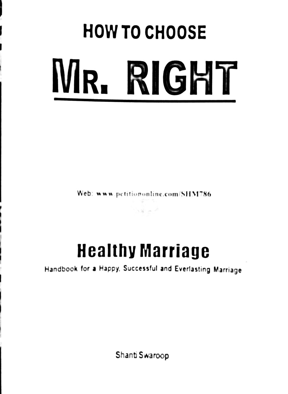 How to choose Mr. Right
