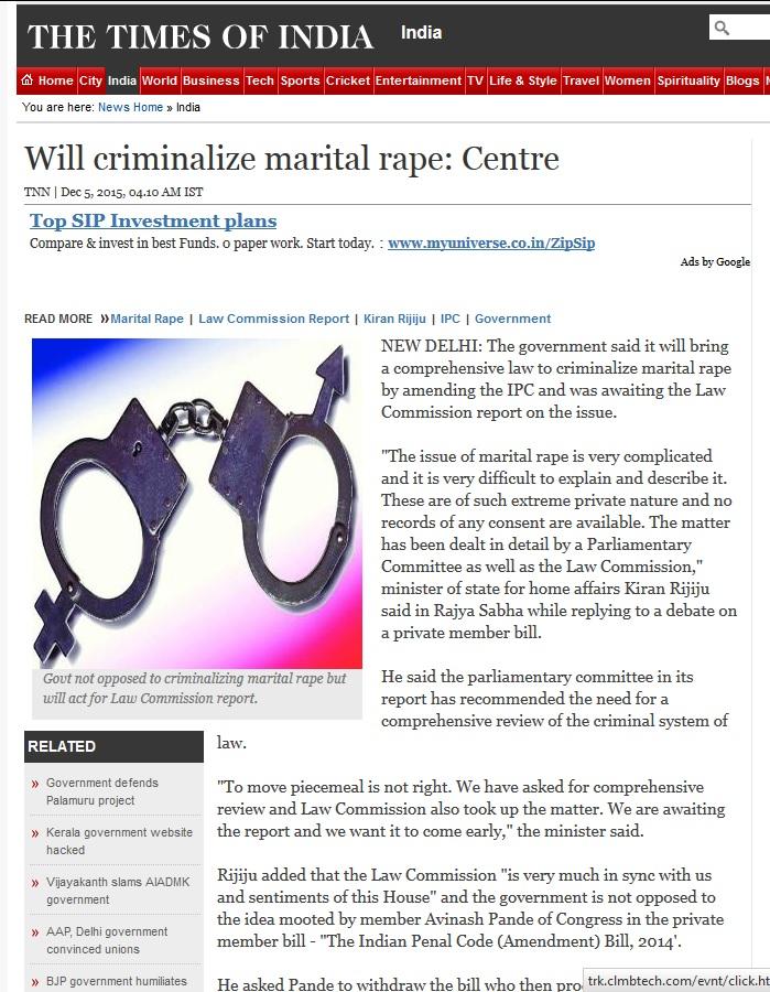 Criminalize Marital Rape