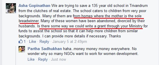 Earning money for a school from WCD ministry
