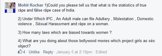 Ask laws for men to Maneka Gandhi