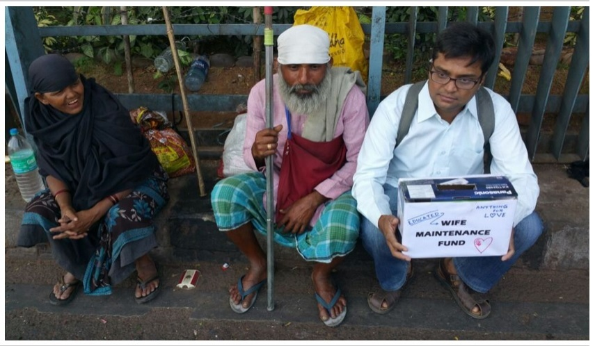 Men begging for alimony