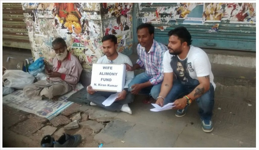 Men begging for alimony in Hyderabad