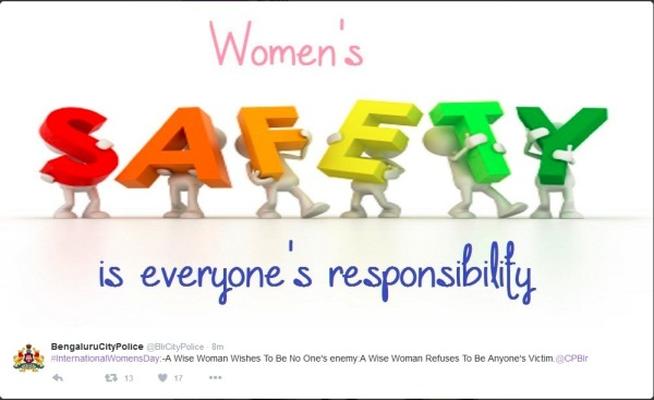 BengaluruPoliceTweet on Womens Day