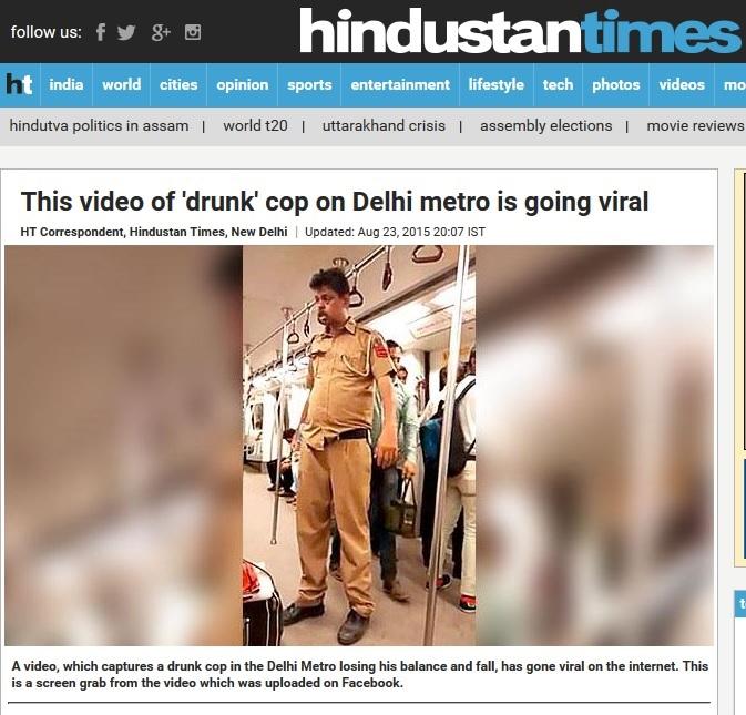 Drunk Delhi cop report on HT