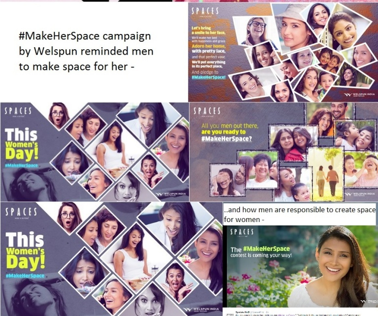 MakeHerSpace by Welspun on Women's Day