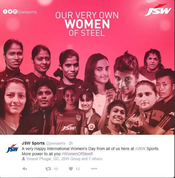 JSW Steel on Women's Day