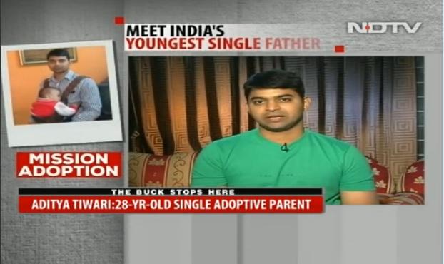 Aditya Tiwari Adopting special child