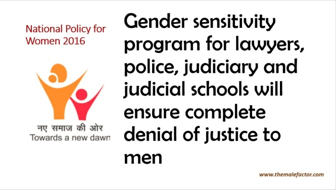 National Policy For Women - Judiciary