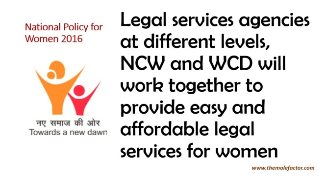 National Policy For Women - Legal Services