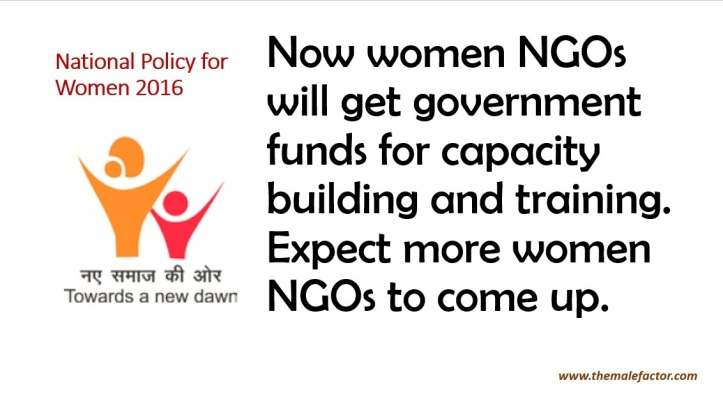National Policy For Women - Women NGOs