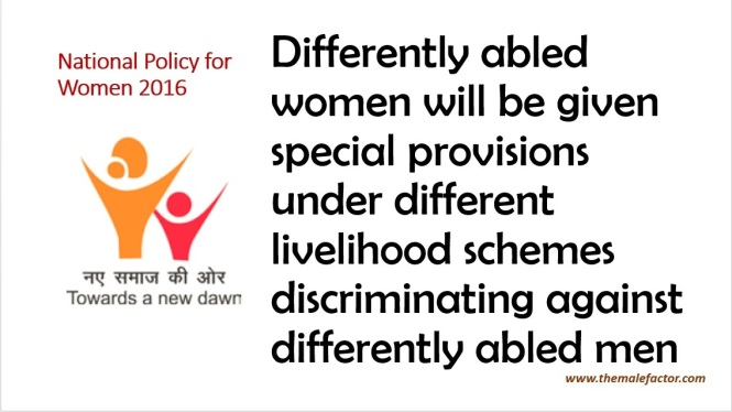 National Policy for Women_Differently Abled