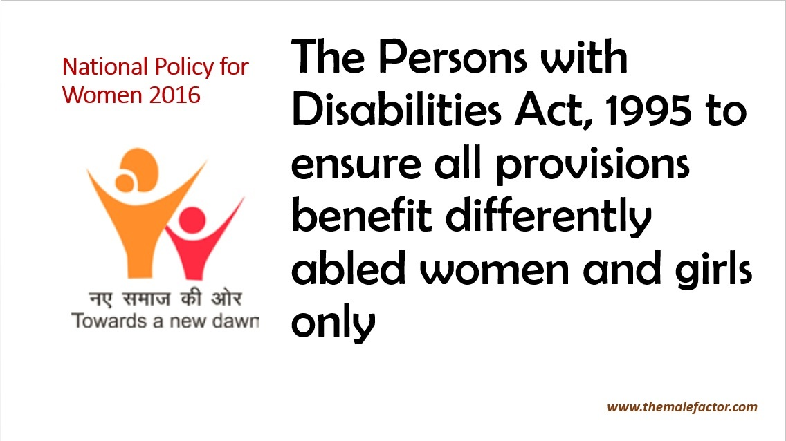 National Policy for Women_Disabilities Act