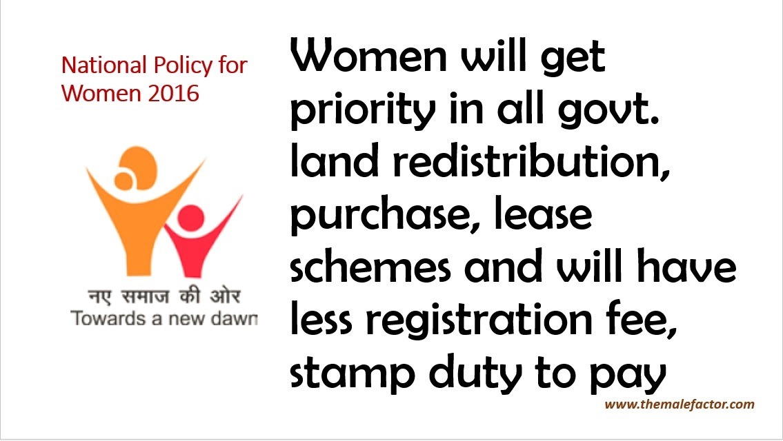 National Policy for Women_Land Acquisition