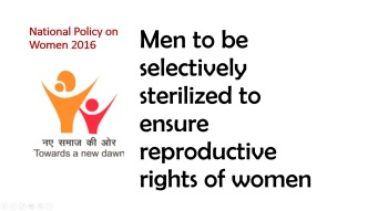 National policy on women_Male Reproductive Rights