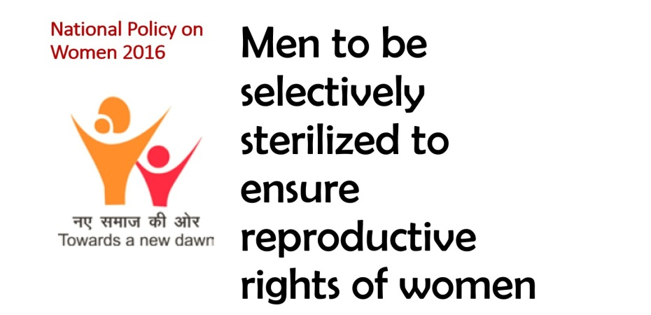 National policy for women_Male Reproductive Rights