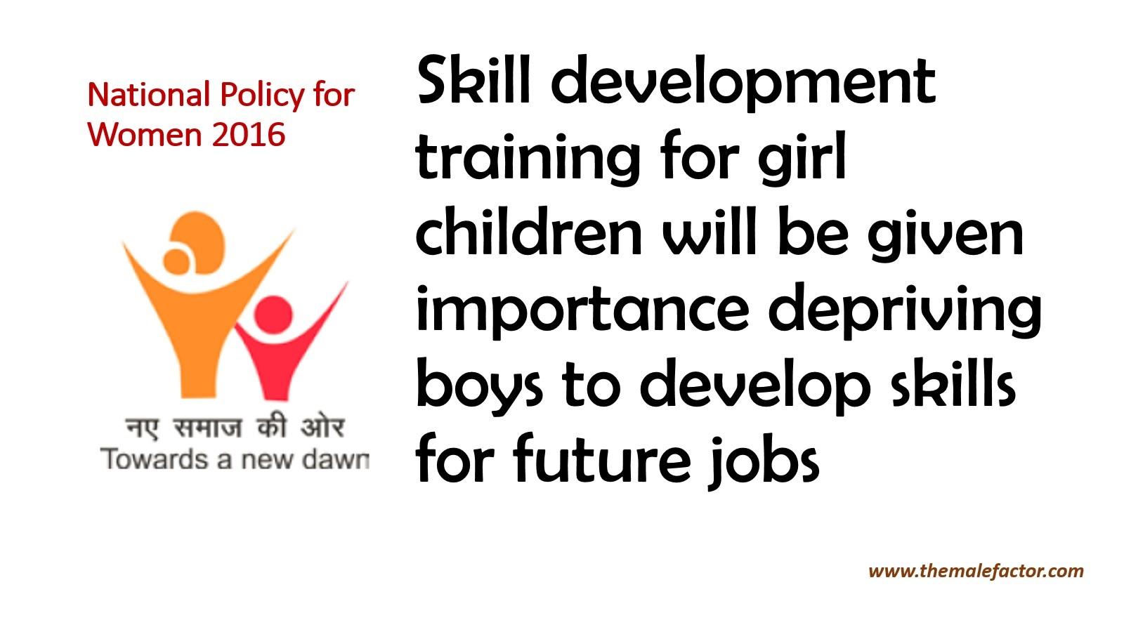 National policy on women_Skill Development